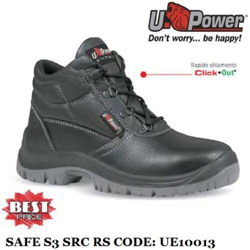 SCARPE ANTINFORTUNISTICA U-POWER SAFE S3 SRC RS PUNTA ACCIAIO UPOWER UE10013