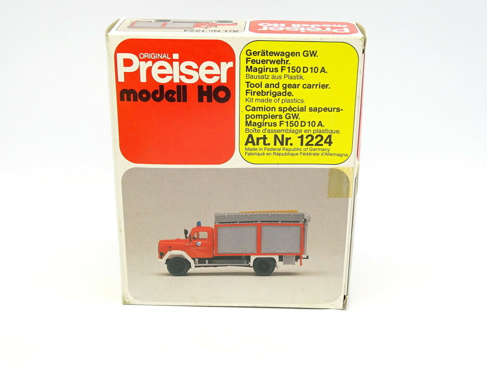 Preiser kit to fit 1 87 HO-Magirus f150 d10a FIRE FEUERWEHR