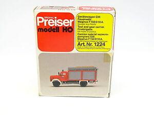 Preiser-Kit-a-monter-1-87-HO-Magirus-F150-D10A-Pompiers-Feuerwehr