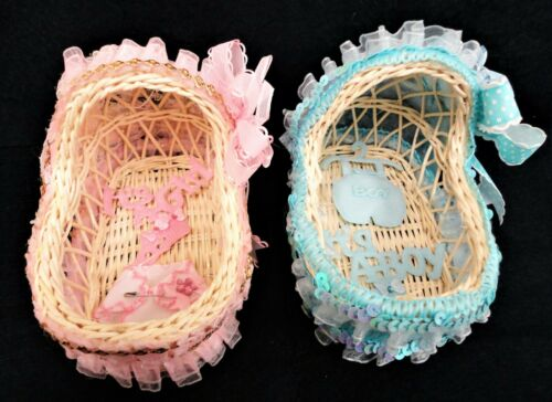 Charmed Woven Basket Crib Baby Shower Centerpiece Favors Gifts Decorations