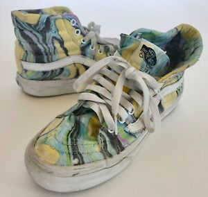 VANS-Off-The-Wall-Skateboard-HighTop-Shoes-Padded-Multi-Color-Women-US-6-EU-36