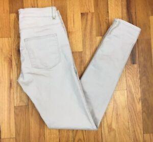 H M Para Mujer Skinny Jeans Pantalones De Dril De Algodon Elastico Piedra Beige Talla 4 Ebay
