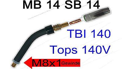 Obbiettivo Set Riparazione Mb14 Sb14 Tbi140 Tops 140v Brennero Collo Mig/mag Gasd Elettricità Ugelli 0,8mm-