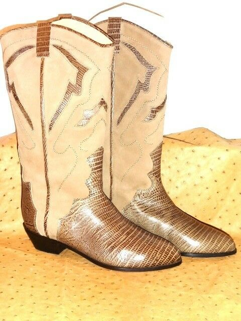 SUPERB BOOTS WESTERN WESTERN WESTERN XAVIER DANAUD ALL BROWN LEATHER VINTAGE 80 NEW T.38 224a9d