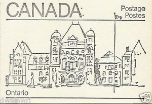 Canada 1982 - 50¢ Maple Leaf Booklets #BK82 (labels bottom row) - Ontario