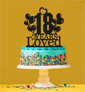 Image Is Loading 18th Birthday Loved Cake Topper 18 Years Old