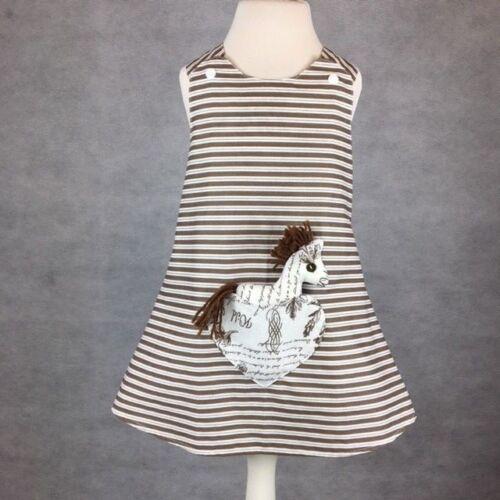 New Born-8 Years Handmade Shabby Chic Reversible girl's dress Size