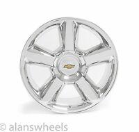 4 Chevy Suburban Tahoe Ltz Chrome 20 Wheels Rims Gold Bowtie Free Ship 5308