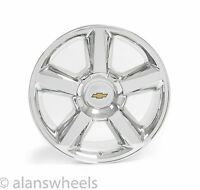 4 Chevy Suburban Tahoe Ltz Chrome 20 Wheels Rims Gold Bowtie Free Ship 5308