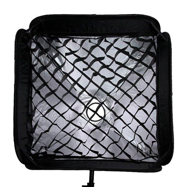 "Softbox + Honeycomb Grid For SpeedLight Flash Speedlite Soft box 60x60cm 24""x24"""