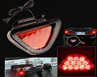 F1 Style 12 Red LED Car Tail Back Brake Reverse Fog Indicator DRL Lamp Light 12V