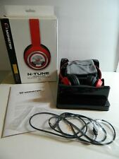 Monster N-Tune On-Ear Headphones Cherry RED 128598-00 *Free Shipping*