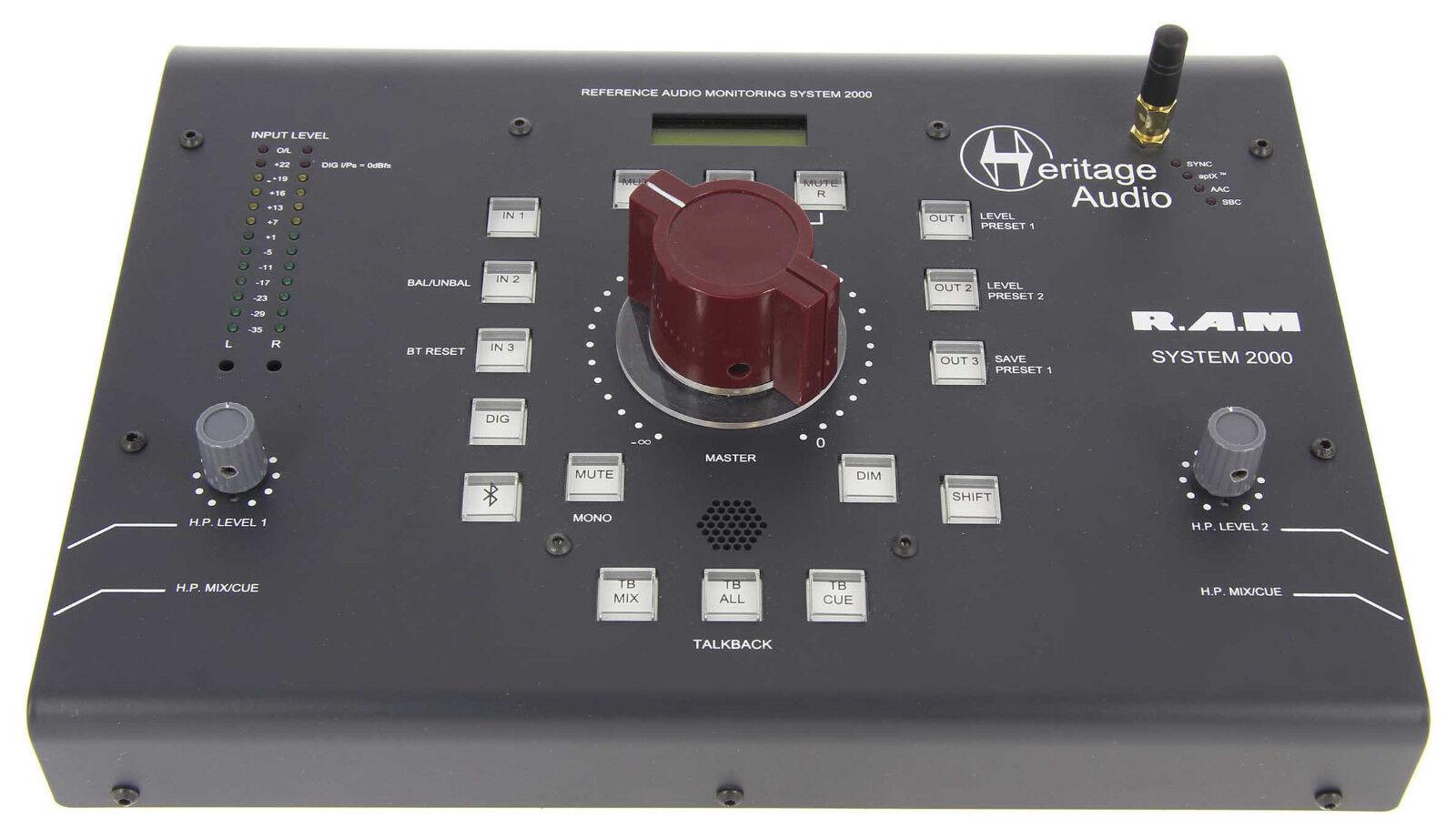 HERITAGE HERITAGE HERITAGE Audio RAM-2000 Controlador de Monitor de grado de masterización estéreo,      Nueva    f3cbaa