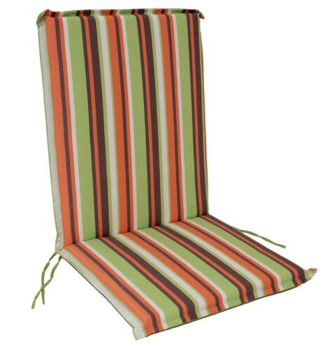 Gartenstuhlauflage Stuhlpolster Garten Sesselauflage CAIRO grün gestreift 2 STCK