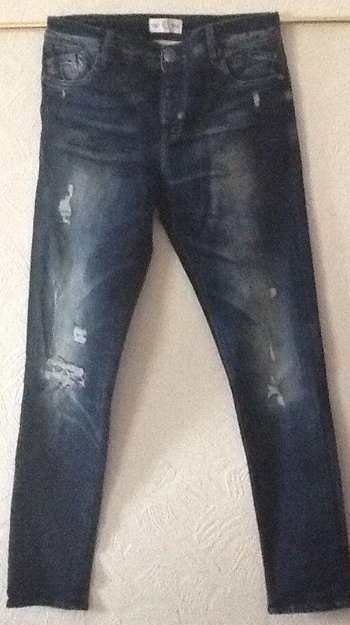 883 Police BRADE 'Affusolato 'Affusolato 'Affusolato Fit Jeans Denim Blu Scuro. NUOVO, AUTENTICO. Taglia 32 32 e2aaef