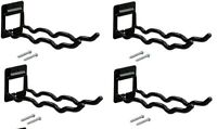 (4) Ea Crawford Products Fth3p Flip Up Wall Mount Tool Holder Brackets / Hooks
