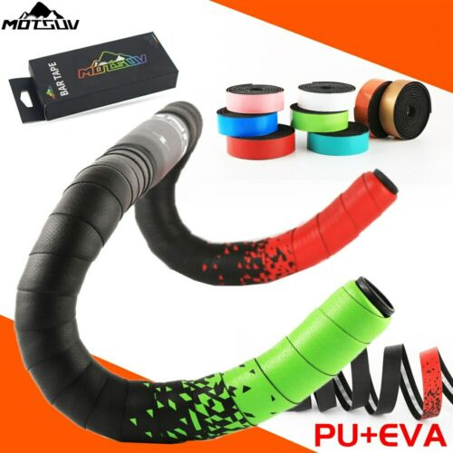 Handlebar Tape Silicone Road Bike Drop Bar Tape Wrap Silica Thick Red PU+EVA