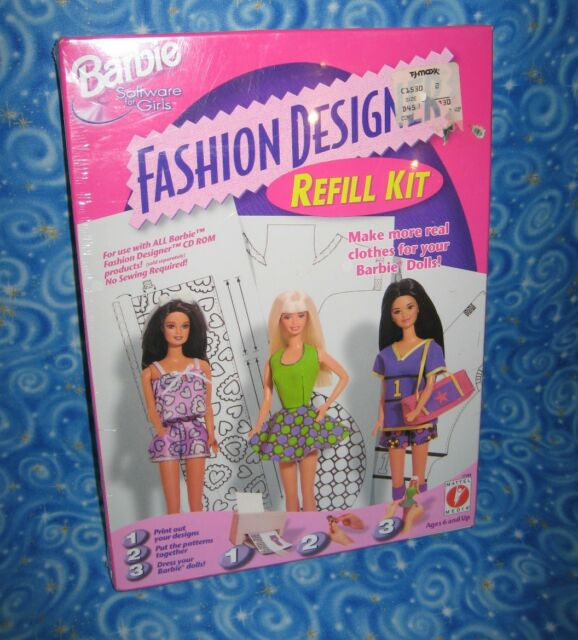 Barbie Software For Girls Fashion Designer Refill Kit Mattel 17769 For Sale Online Ebay