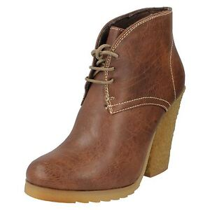 kett r36a Down To Earth F50021 Ladies Light Brown Ankle Boots