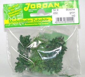 Jordan-H0-9-Set-6-Buesche-gruen-Hoehe-ca-1-5-cm