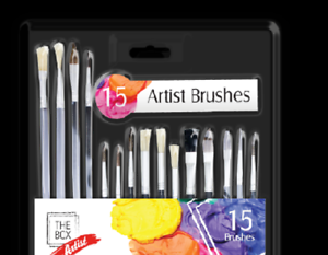 Artist-Paint-Brush-Set-Art-paint-Brushes-for-Acrylic-Oil-Watercolors-Pack-of-15