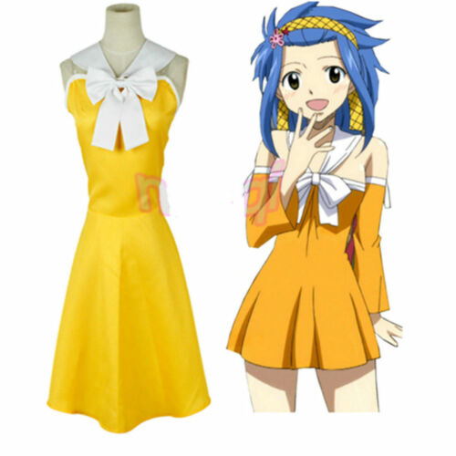 Hot Sell NEW Fairy Tail Levy Mcgarden uniform Cosplay Costume Dress HHP.90