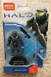Details about Mega Bloks Halo Heroes Series 8 Master Chief Figure Set FVK24  NISB
