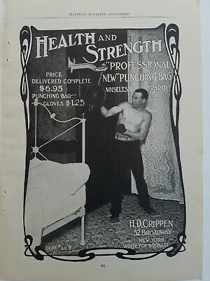 Knowledgeable 1902 Professional Punching Bag Noiseless Rapid Health And Strength Vintage Ad Merchandise & Memorabilia 1900-09
