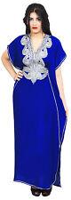 Moroccan Caftan Women kaftan Arabian Beach Dress Fancy Abaya Middle East Blue