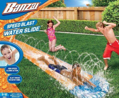Banzai Speed Blast Water Slide Inflatable Super Slick Speed 16L X 28W X 2.5H NIB
