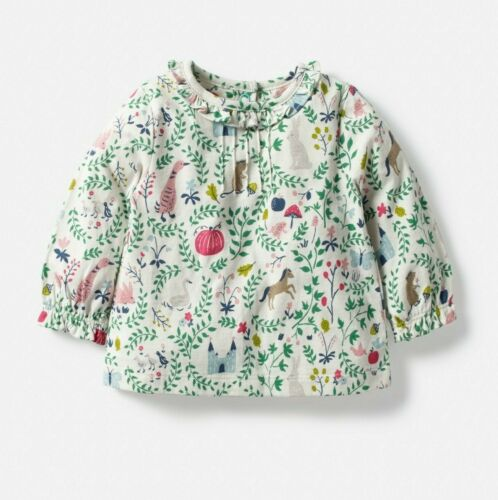 Baby Girls Peter Pan//Pretty Collar New Ex Mini Boden Top T-Shirt 0-4y Fairytale