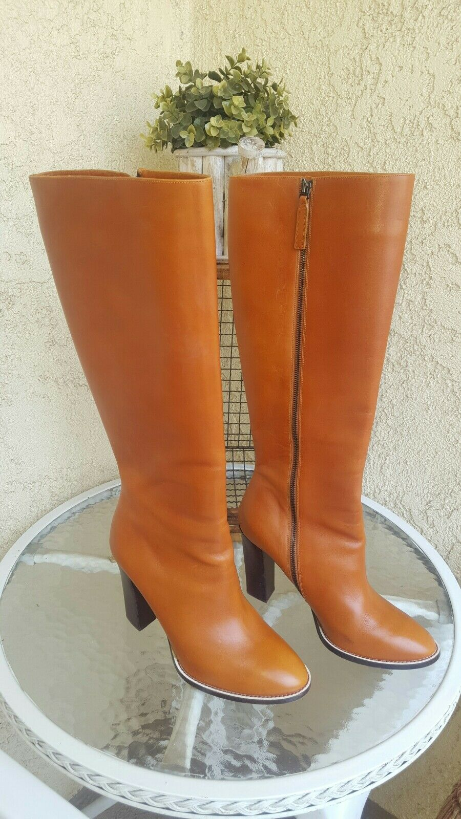 Chloe pelle Donna tan knee high boot  Sz 42 (10)