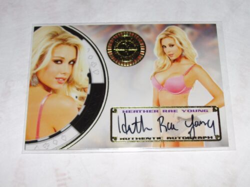 2014 Benchwarmer HEATHER RAE YOUNG Vegas Baby #23 Foil Auto PLAYBOY Internship