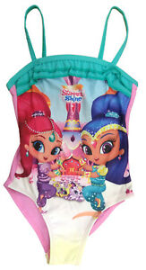 36e25689cb Image is loading Girls-Shimmer-And-Shine-Swimming-Costume-One-Piece-