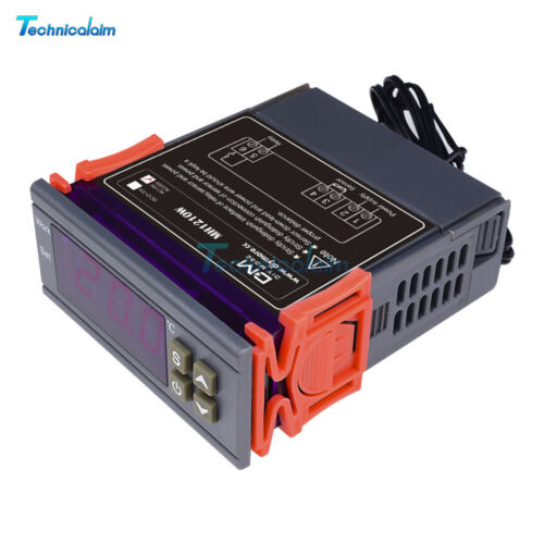 90~250V Digital Temperature Controller Sensor Thermostat 10A 50~110℃ w//Sensor
