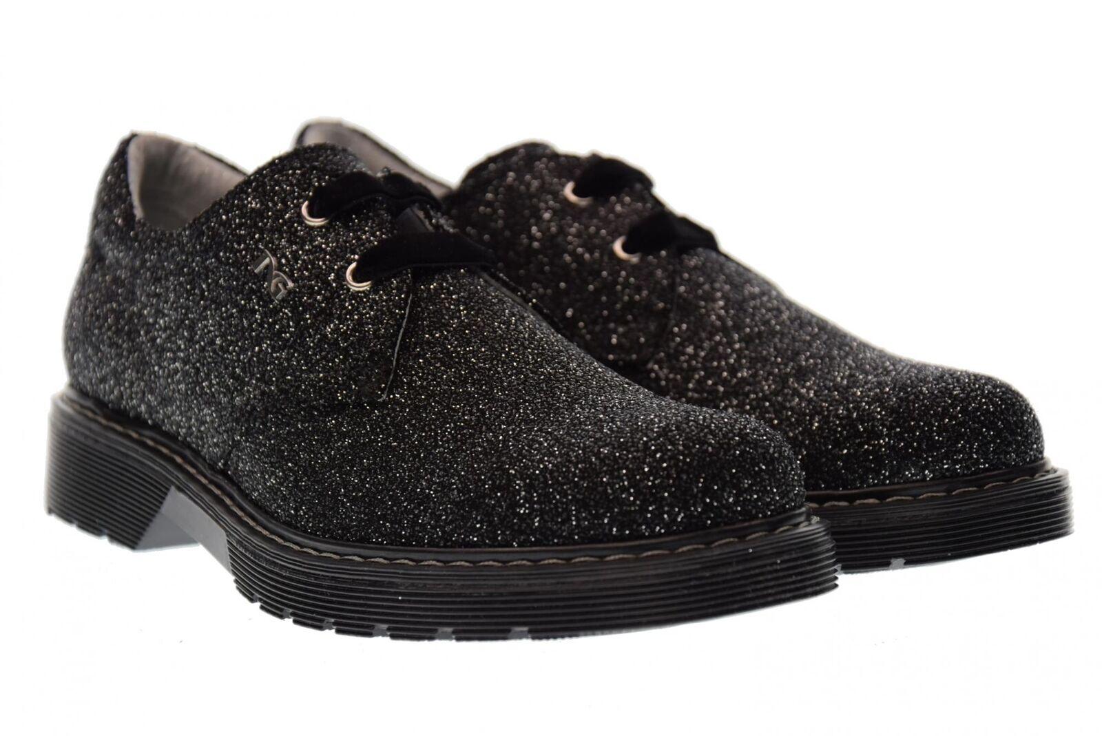 black Giardini A17f Junior shoes lacées A732550F A732550F A732550F   100 silver black (31 34) 4e1d72