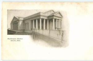 Omaha-Nebraska-Burlington-Railroad-Station-1900s-Antique-Postcard-25933
