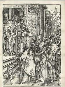1887-Large-Woodcut-Of-Christ-Before-Pilate-Albrecht-Durer