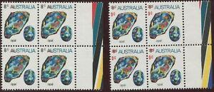 1973-74-Gemstones-9c-on-8c-Opal-matched-marginal-blks-4-w-colour-bars-variety