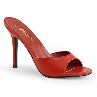 mule open toe heels