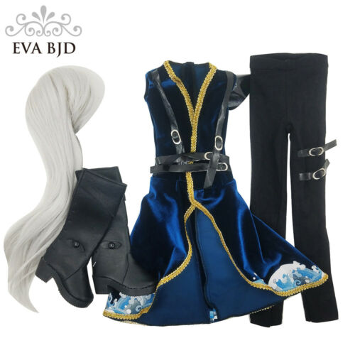 Toy Clothes Dress Wig Shoes Set for 1//3 BJD SD Doll Male EVA BJD Dolls/' Clothing