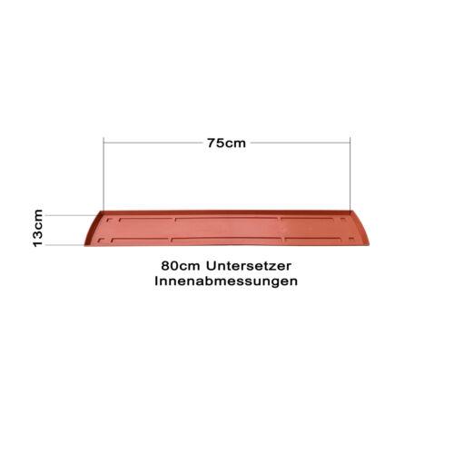 Untersetzer 80 oder 100cm Balkonkasten Blumenkasten Pflanzkasten Standard