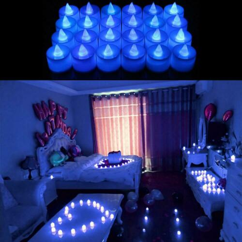 24pcs LED Candles Battery Powered Simulation Flashing Flame Christmas Tea Lights