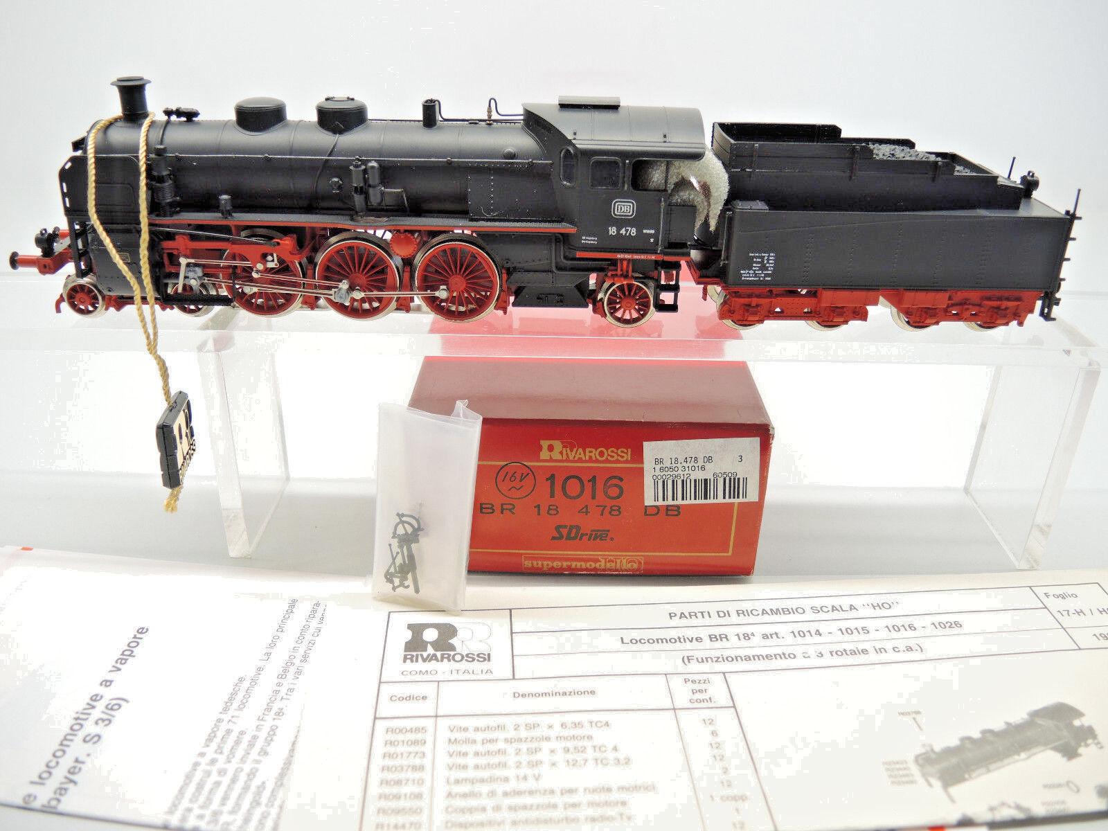 RIVAROSSI 1016 locomotiva, traino Tenderlok BR 18 478 delle DB sDrive AC OVP