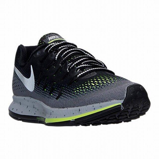 Nike Air Zoom Pegasus 33 Shield Wmn's Sizes 8.5,10.5 B Black/Slvr 849567-001 NEW