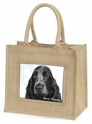 Cocker Spaniel Hund dir für immer Große Natürliche Jute-einkaufstasche,