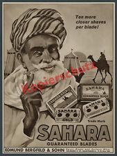 Reklame Bergfeld & Sohn Sahara-Klingen Solingen Stahl Montan Orient Wüste 1933