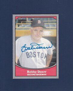 Bobby Doerr signed Boston Red Sox 1990 Baseball Legends baseball card