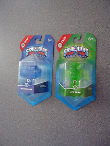 SKYLANDERS-TRAP-TEAM-LIFE-amp-WATER-TRAP-BUNDLE-1-OF-EACH-NEW-6-Boys-amp-Girls