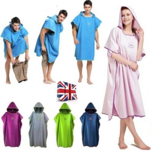 Outdoor Changing Robe Bath Towel Adult Hooded Beach Towel Poncho Bathrobe Towel